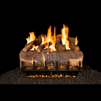 Real Fyre Mountain Crest Oak 24-in Logs with G31 Burner Kit and Options