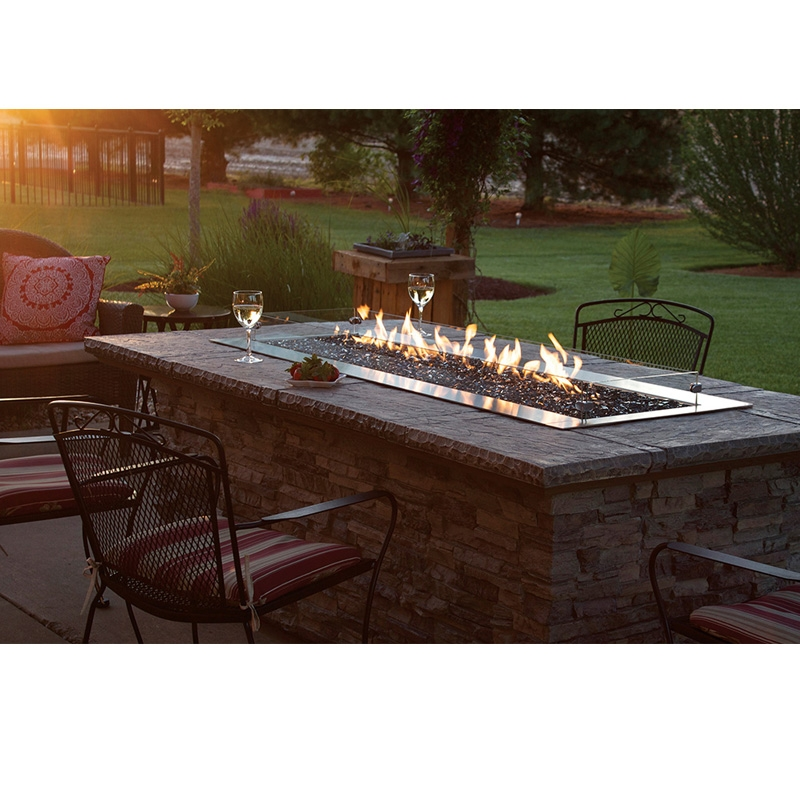 Empire Carol Rose Outdoor Linear Fire Pit 48