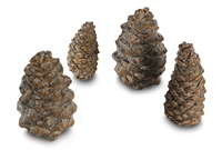 Designer Pine Cones- 4 Assorted Sizes