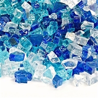 "1/4"" BERMUDA BLEND FIRE GLASS 10-LB"