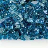 1/4-In Blue Lagoon Reflective Fireglass 10-Lb