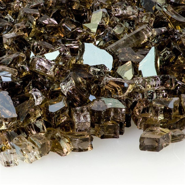 1/4-In Bronze Reflective Fire Glass 10-Lb