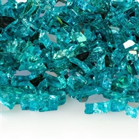 1/4-In Caribbean Blue Reflective Fireglass 10-Lb