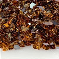 1/4-In Copper Reflective Fireglass 10-Lb