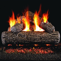 Real Fyre Golden Oak 20-in Gas Logs with Burner Kit Options