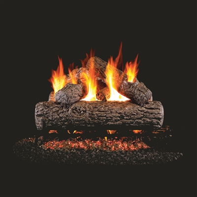 Real Fyre Golden Oak 36-in Gas Logs with Burner Kit Options