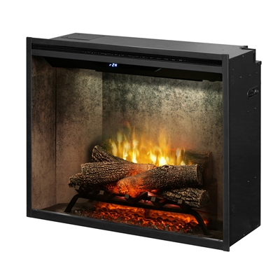 "Dimplex Revillusion Weathered Concrete 30"" Built-In Electric Firebox (RBF30WC)"