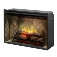 "Dimplex Revillusion Herringbone 36"" Built-in Electric Firebox (RBF36)"