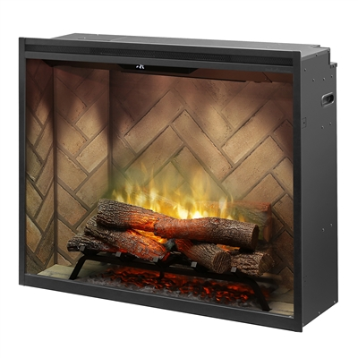 "Dimplex Revillusion Herringbone 36"" Portrait Built-in Electric Firebox (RBF36P)"