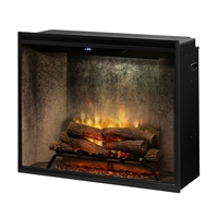 "Dimplex Revillusion Weathered Concrete 36"" Portrait Built-In Electric Firebox (RBF36PWC)"