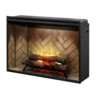 "Dimplex Revillusion Herringbone 42"" Built-in Electric Firebox (RBF42)"