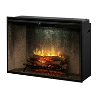 "Dimplex Revillusion 42"" Built-In Firebox with Weathered Concrete Panels (RBF42WC)"