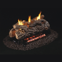 Real Fyre Golden Oak Designer See-Thru Vent Free 24-in Logs with G9 Burner Options