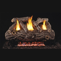 Real Fyre Golden Oak Designer 30-in Vent Free with G9 Burner Kit Options