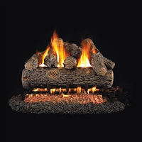 Real Fyre Golden Oak Designer Plus 16-in Gas Logs with Burner Kit Options