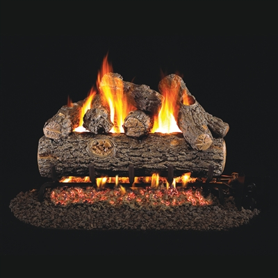 Real Fyre Golden Oak Designer Plus 24-in Gas Logs with Burner Kit Options