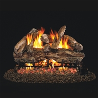 Real Fyre Red Oak 30-in Gas Logs with Burner Kit Options
