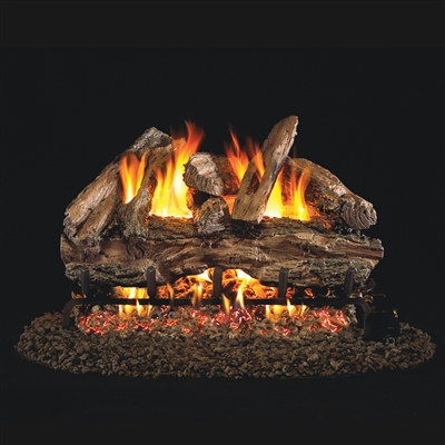 Real Fyre Red Oak 30-in Gas Logs Only