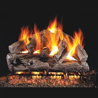 Real Fyre Rugged Oak 30-in Gas Logs with Burner Kit Options
