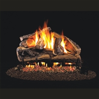 Real Fyre Rugged Split Oak 30-in Gas Logs with Burner Kit Options
