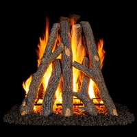 "Real Fyre Rural Oak Rumford Style 24/30"" Gas Logs Only"