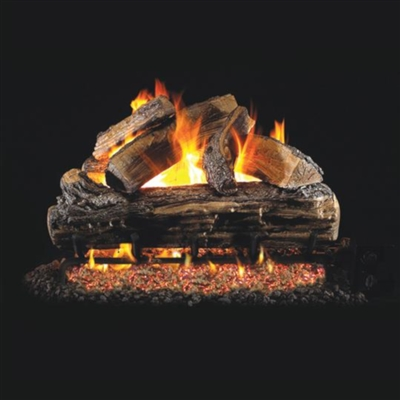 Real Fyre Split Oak 18-in Gas Logs With Burner Kit Options