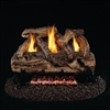 Real Fyre Split Oak Designer See-Thru Vent Free 24-in Logs with G9 Burner Options