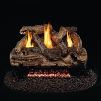 Real Fyre Split Oak 30-in Vent Free Gas Logs with G9 Burner Kit Options