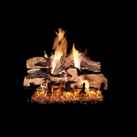 Real Fyre Split Oak Designer Plus 18-in Gas Logs with Burner Kit Options