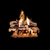 Real Fyre Split Oak Designer Plus 36-in Gas Logs with Burner Kit Options