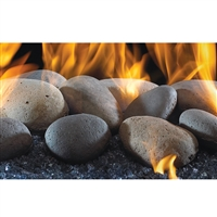 Real Fyre River Rocks with 30-in P45 Burner