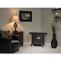 Empire Cast Iron Vent-Free Medium Stove, Millivolt Control in Matte Black