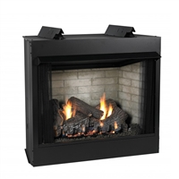 Empire Jefferson Vent-Free Firebox, Deluxe 42 Circulating Flush Front, Refractory Liner