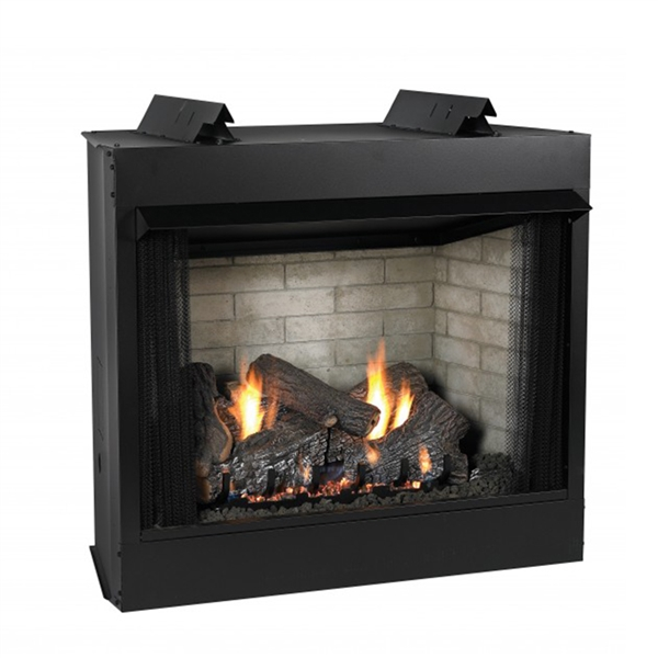 Empire Jefferson Vent-Free Firebox, Deluxe 42 Circulating Louver, Refractory Liner