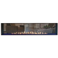Empire Boulevard Vent-Free See Through Linear Fireplace 60-in