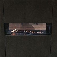 "Empire Vent-Free 48"" Boulevard (2018 Model), See-Through, MV, Curve-Burner, Nat with On/Off Switch"