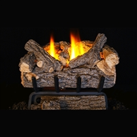 Real Fyre Valley Oak 24-in Vent Free Gas Logs with G8E Burner Kits