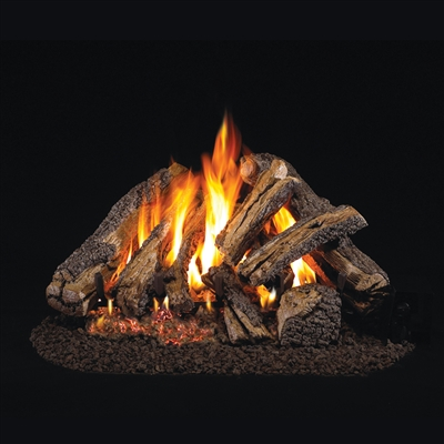 Real Fyre Western Campfyre 24-in Gas Logs With Burner Kit Options