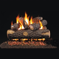 Real Fyre Woodland Oak 30-in Gas Logs with Burner Kit Options