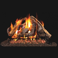 Real Fyre Woodstack 24-in Gas Logs with Burner Kit Options