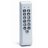 Linear 232iLM-AL Indoor / Outdoor Mullion-mount Weather Resistant Keypad, aluminum