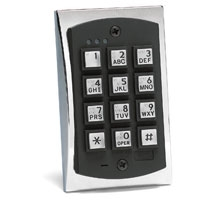 Linear 2000eM 2000 Series eM Style Flush-mount Durable Metal Access Control Keypad
