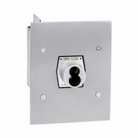 1KF-SLF NEMA 1 Interior Tamperproof OPEN-CLOSE S Type Large Format Cylinder Key Switch Flush Mount