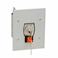 1KFS NEMA 1 Interior Tamperproof OPEN-CLOSE Key Switch with Stop Button Flush Mount