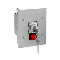 1KFS-BC NEMA 1 Interior Tamperproof OPEN-CLOSE Best Cylinder or Equivalent Key Switch with Stop Button Flush Mount