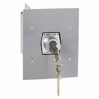 1KFX-CC Exterior Tamperproof OPEN-CLOSE Changeable Core Cylinder Key Switch Flush Mount