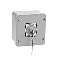 1KX NEMA 4 Exterior Tamperproof OPEN-CLOSE Key Switch Surface Mount