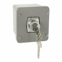 1KX-BC NEMA 4 Exterior Tamperproof OPEN-CLOSE Best Cylinder or Equivalent Key Switch Surface Mount