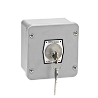 1KX-CC NEMA 4 Exterior Tamperproof OPEN-CLOSE Changeable Core Cylinder Key Switch Surface Mount