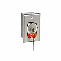 HBFS NEMA 1 Interior OPEN-CLOSE Key Switch with Stop Button in Single Gang Back Box Flush Mount